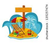 rented dream island | Shutterstock .eps vector #135257474
