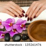 hand care and manicure in the... | Shutterstock . vector #135261476