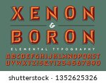 a two toned alphabet design... | Shutterstock .eps vector #1352625326