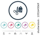price cut flat color icons in... | Shutterstock .eps vector #1352645069