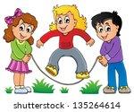 kids play theme image 1   eps10 ... | Shutterstock .eps vector #135264614