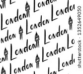 handlettering london pattern.... | Shutterstock .eps vector #1352649050