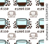 half a cup of espresso and... | Shutterstock .eps vector #1352649140