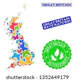 ecological collage of bright... | Shutterstock .eps vector #1352649179