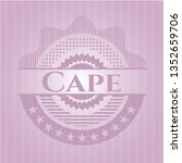 cape realistic pink emblem | Shutterstock .eps vector #1352659706