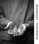 poverty. wrinkled empty old... | Shutterstock . vector #135266438