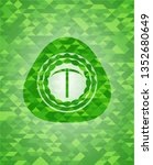 pickaxe icon inside realistic... | Shutterstock .eps vector #1352680649