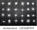 white glowing light explodes on ... | Shutterstock .eps vector #1352685959