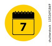 7 calendar yellow vector icon   ... | Shutterstock .eps vector #1352691869