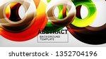 modern geometric circles... | Shutterstock .eps vector #1352704196