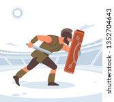spartan warriors fight in the... | Shutterstock .eps vector #1352704643