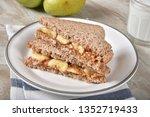 peanut butter and banana... | Shutterstock . vector #1352719433