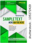 abstract poster. vector | Shutterstock .eps vector #135272420