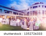 abstract blurred people at...   Shutterstock . vector #1352726333