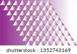 abstract triangle pattern... | Shutterstock .eps vector #1352743169