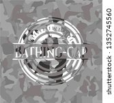 bathing cap on grey camouflage... | Shutterstock .eps vector #1352745560