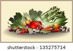 illustration fresh vegetables. | Shutterstock .eps vector #135275714
