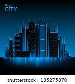 night city | Shutterstock .eps vector #135275870