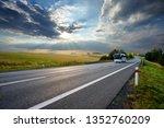 white bus traveling on the... | Shutterstock . vector #1352760209