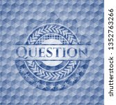 question blue hexagon badge. | Shutterstock .eps vector #1352763266