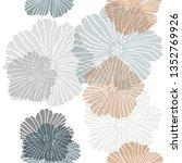 dark green  red vector seamless ... | Shutterstock .eps vector #1352769926