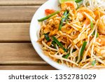pad thai  stir fried rice...   Shutterstock . vector #1352781029