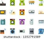 color flat icon set   washing...   Shutterstock .eps vector #1352791589