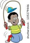 cartoon illustration of a boy... | Shutterstock . vector #135279446