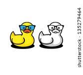 duckling in sunglasses   Shutterstock .eps vector #135279464