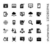 seo and web solid icons pack is ... | Shutterstock .eps vector #1352803946