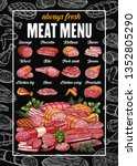 butchery meat products and...   Shutterstock .eps vector #1352805290