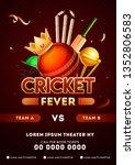 cricket championship league... | Shutterstock .eps vector #1352806583