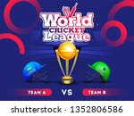world cricket league concept... | Shutterstock .eps vector #1352806586