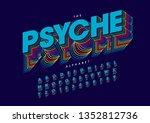 vector of stylized modern font... | Shutterstock .eps vector #1352812736