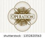 brown passport money rosette...   Shutterstock .eps vector #1352820563