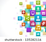 social media icons vector... | Shutterstock .eps vector #135282116