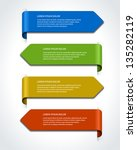 vector paper lines and numbers... | Shutterstock .eps vector #135282119