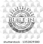built in grey emblem with... | Shutterstock .eps vector #1352829380