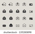 mail envelope web icons set | Shutterstock .eps vector #135283898