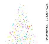 sprinkles grainy. cupcake... | Shutterstock .eps vector #1352847626