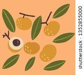 longan cute illustration | Shutterstock .eps vector #1352855000