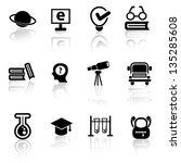 education icons vector | Shutterstock .eps vector #135285608