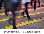 people person on zebra crossing ... | Shutterstock . vector #1352864096