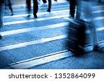 people person on zebra crossing ... | Shutterstock . vector #1352864099