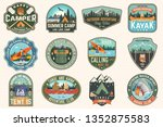 set of summer camp  canoe and... | Shutterstock .eps vector #1352875583