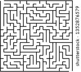 labyrinth of medium complexity. ... | Shutterstock .eps vector #1352876579