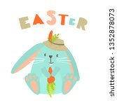 vector illustration with cute... | Shutterstock .eps vector #1352878073