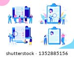 online recruitment concept.... | Shutterstock .eps vector #1352885156