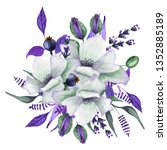 Watercolor Floral Bouquets With ...