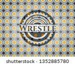 wrestle arabesque style emblem. ... | Shutterstock .eps vector #1352885780